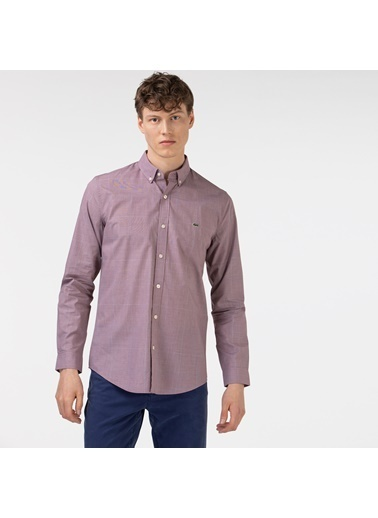 Lacoste Erkek Slim Fit Gömlek CH0174.74R Bordo